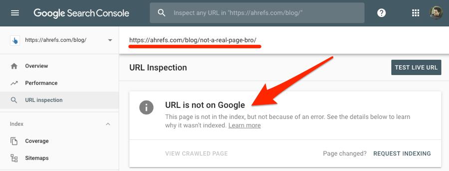 صفحة في موقعك لم يتم فهرستها في جوجل كونسول